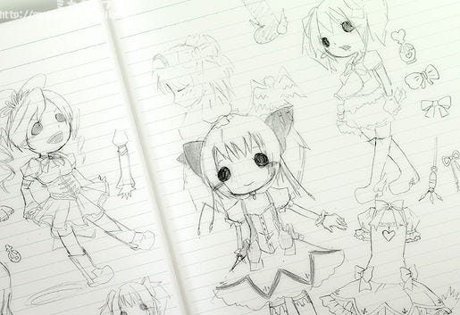 Its An Expression To Recreate Madokas Drawings Of Herself XD Nendoroids Really Give You All Sorts Ways Have Fun