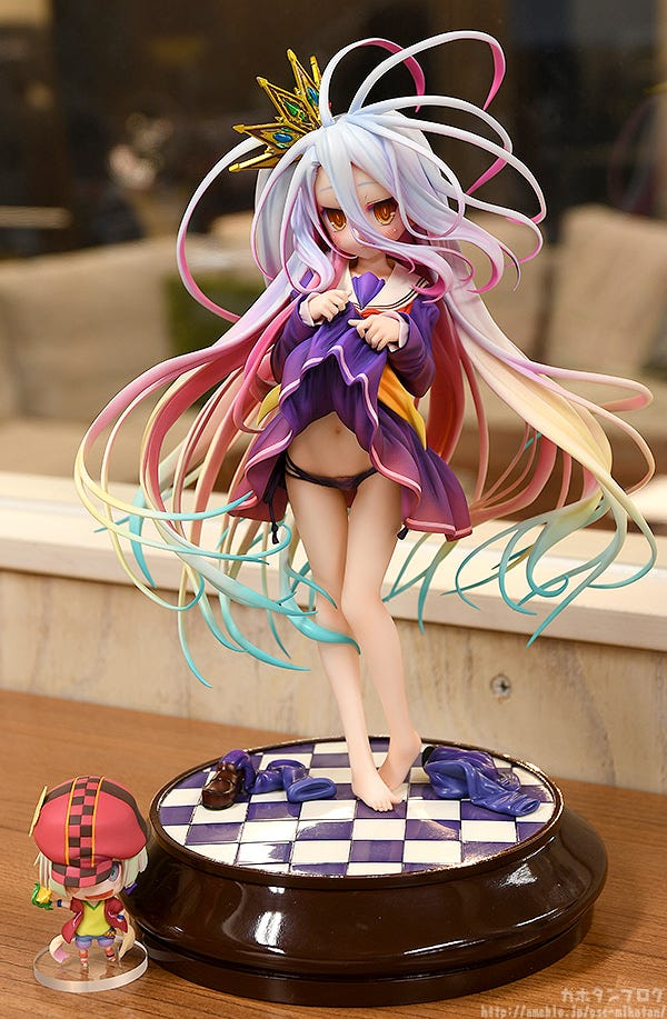 No Game No Life: Shiro: Tuck up ver. Phat PRE-ORDER 1//7 Scale Figure