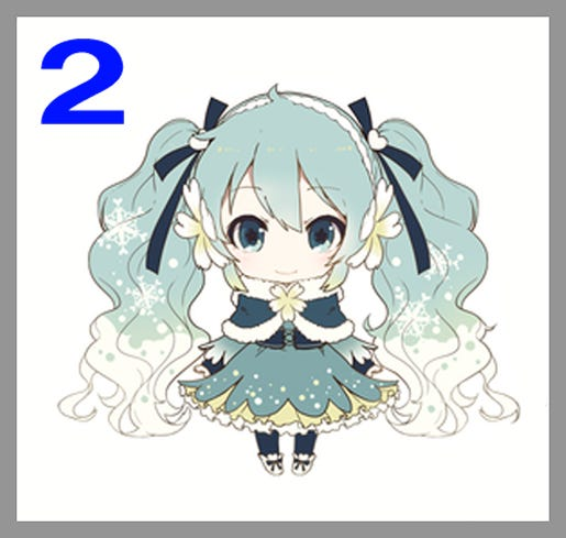 2015 Nendoroid Snow Miku Costume Design Finalists