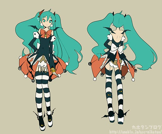 u201cHere is the illustration she was based on!u201d & Nendoroid Hatsune Miku: Halloween Ver. u2013 Kahotanu0027s Blog | GOOD SMILE ...